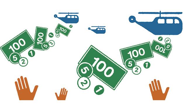 ¿Lanzarán los bancos centrales dinero desde los helicópteros?