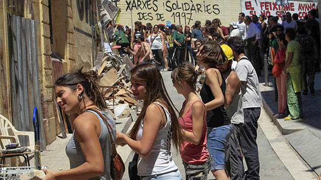 Barcelona, ciudad okupada