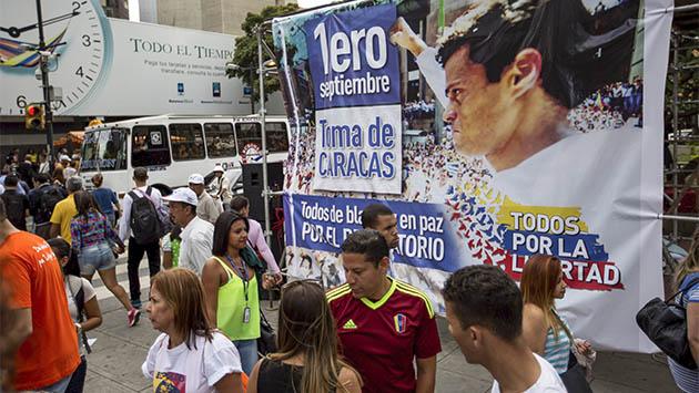 """La oposición venezolana planea """"la toma de Caracas"""""""