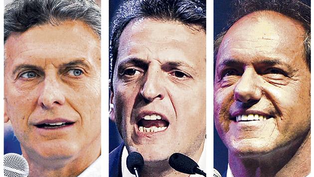 Tres candidatos para gestionar la herencia del kirchnerismo